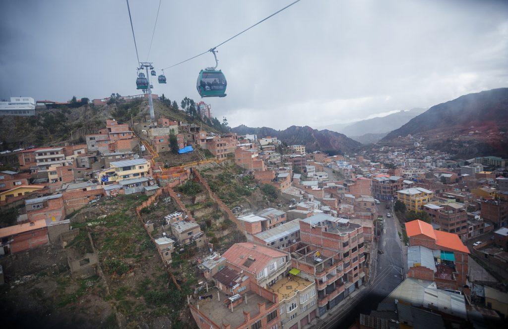 Lanovka nad La Paz